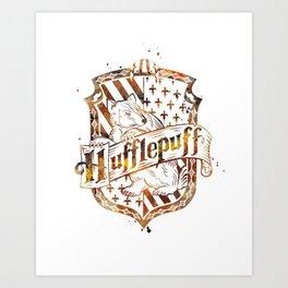 Hufflepuff Crest Art Print