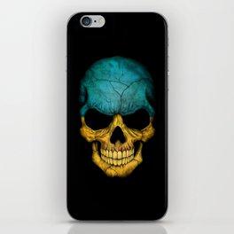 Dark Skull with Flag of Ukraine iPhone Skin