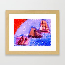 """Port-Washington-Harbor"" Framed Art Print"