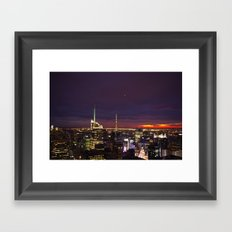 NYC from Rockefeller Framed Art Print