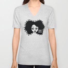 Simply + Cute (Black) Unisex V-Neck