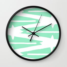 Green Tribal Wall Clock