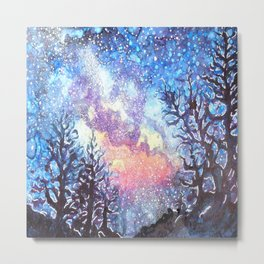 Galaxy Spring Night by CheyAnne Sexton Metal Print