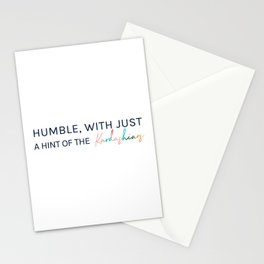 Humble, With Just a Hint of The Kardashians Stationery Cards