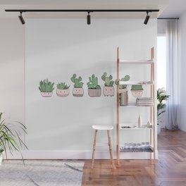 Happy succulent cactuses Wall Mural