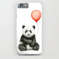 Panda and Red Balloon Baby Animals Watercolor Slim Case iPhone 6s