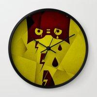 hero Wall Clocks featuring Hero by PingPongPrints