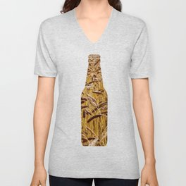 High grain image Unisex V-Neck
