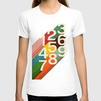 numbers T-shirts featuring Retro Numbers by Picomodi