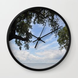 OuterBanks Vacation Blue Sky Landscape Scene Wall Clock