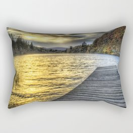 Loch Ard Jetty at Sunset Rectangular Pillow