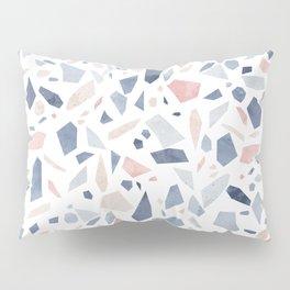 Terrazzo vintage pastel blue pink Pillow Sham
