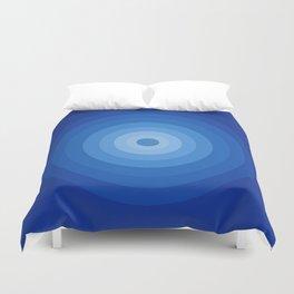 Blue Retro Bullseye Duvet Cover