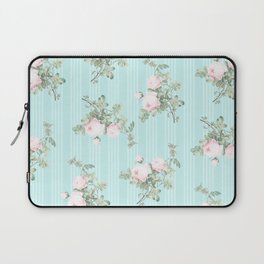 Shabby chic roses pink and mint Laptop Sleeve