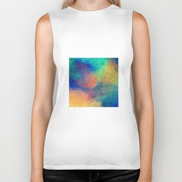Reflecting Multi Colorful Abstract Prisms Design Biker Tank