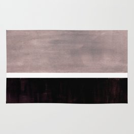 Mid Century Modern Minimalist Art Colorblock Rothko Inspired Squares Grey and Black Simple Abstract Rug