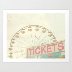 Ticket Booth Art Print