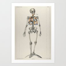 Skeletons Smoking Art Print