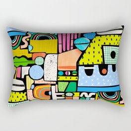 Color Block Collage Rectangular Pillow