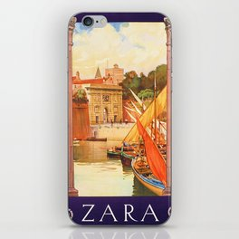 Vintage Zara Italy Travel Poster iPhone Skin