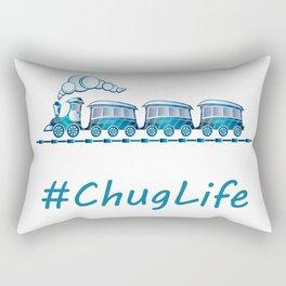 #ChugLife Blue Train Rectangular Pillow