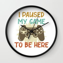 Gaming Gamer Video Game Pause Wall Clock
