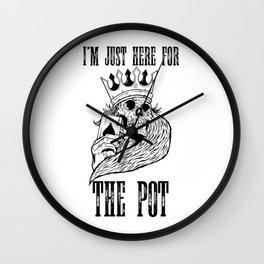 poker t-shirt for gambler and gambler as gift Wall Clock