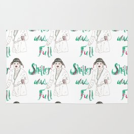 Sh!&%er Was Full! Watercolor Illustration Rug