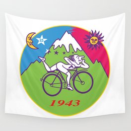 Albert Hofmann Bicycle Day LSD 1943 Circle Wall Tapestry