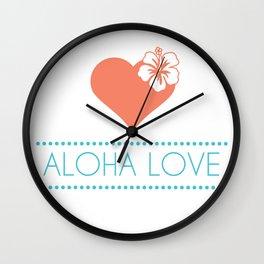 Aloha Love Wall Clock