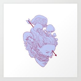 heart of fungus Art Print