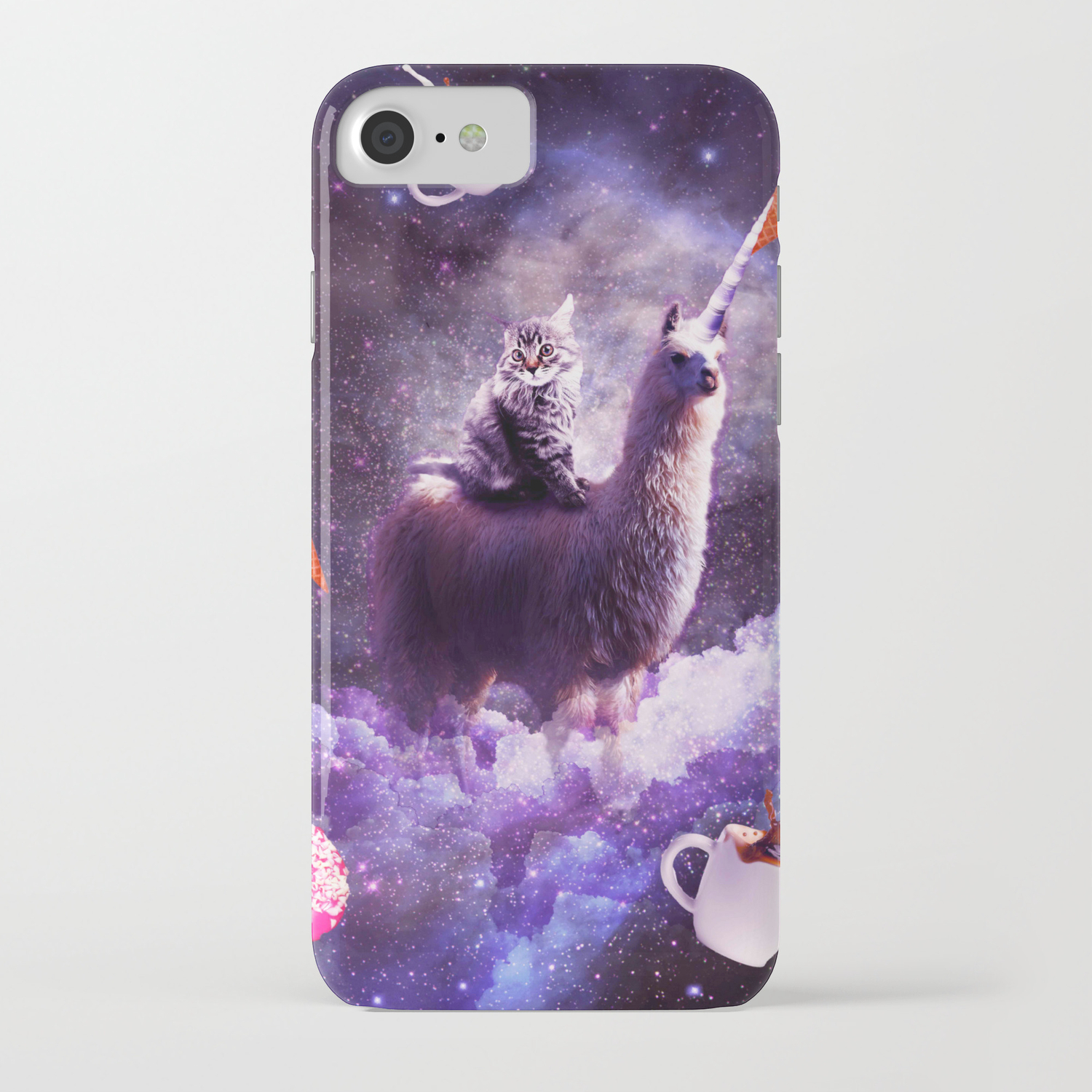 Unicorn with Donuts iPhone Case