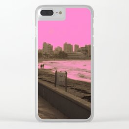 Sunset in San Juan pink Clear iPhone Case
