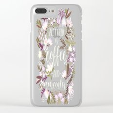 Coffee & Concealer – Spring Palette Clear iPhone Case