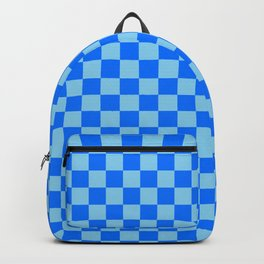 Baby Blue and Brandeis Blue Checkerboard Backpack