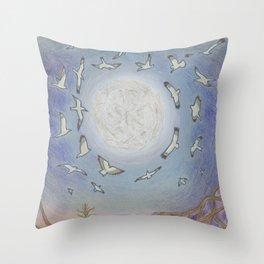 Earth Speaks Throw Pillow
