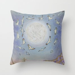Earth Speaks Throw Pillow
