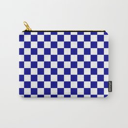 Jumbo Blue and White Australian Racing Flag Checked Checkerboard Carry-All Pouch