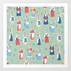 Dutch Girls Art Print