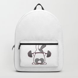 Funny Bunny Gift, Workin On My Buns, Funny Workout Shirt, Fitness Shirt, Gym Motivation Backpack