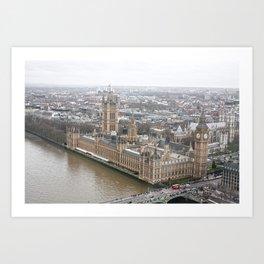 The parliament Art Print