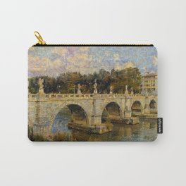 French Impressionistic Arched Bridge Carry-All Pouch