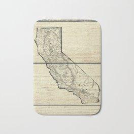 Vintage Map of California Bath Mat
