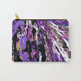 HORSE WILD AND PRETTY OIL PAINTNG Carry-All Pouch