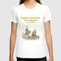 legolas T-shirts featuring Legolas and Gimli Are Friends by James E. Hopkins