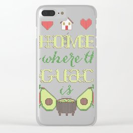 Home is where the gua Clear iPhone Case
