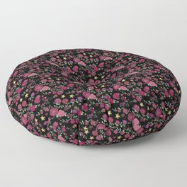 Project 52   Roses on Black Floor Pillow