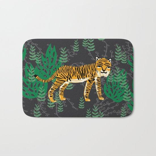 Safari Tiger by Andrea Lauren Bath Mat