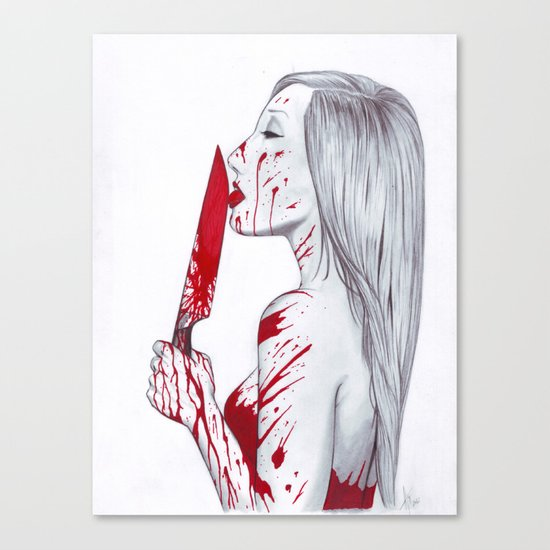 A Taste of Red Canvas Print