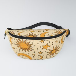 Vintage Sun and Star Print Fanny Pack